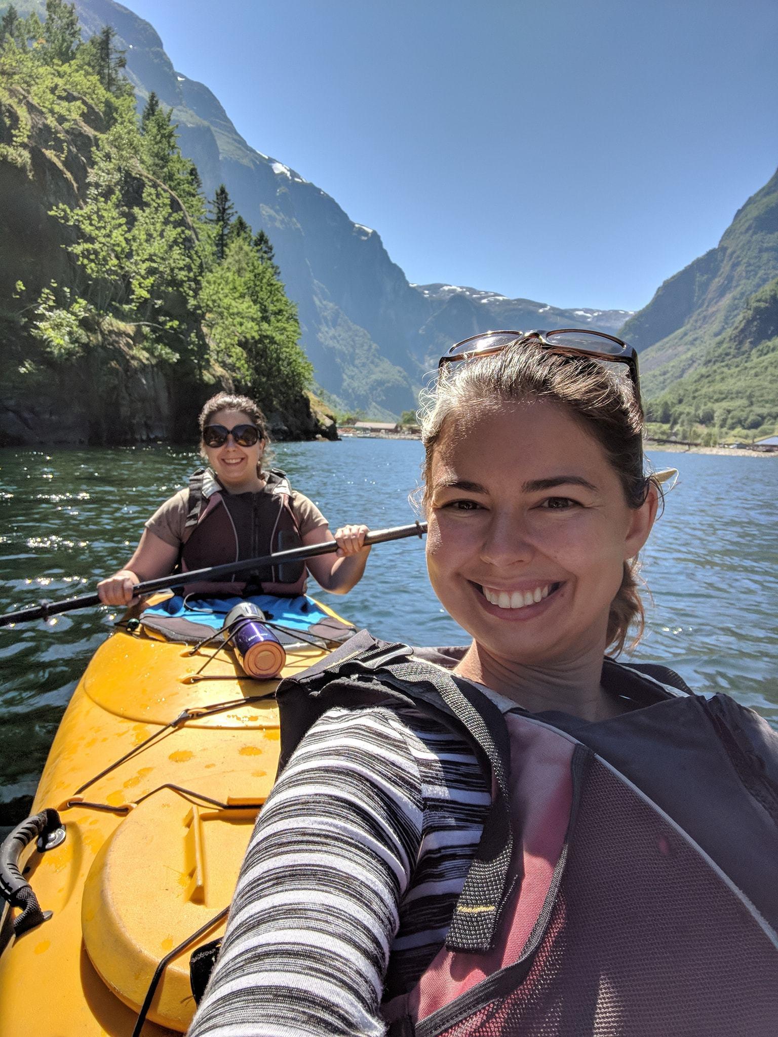 naeroyfjord kayak