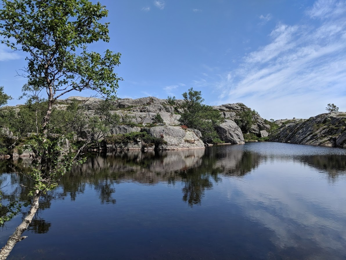 A lake along the Pulpit Rock trail