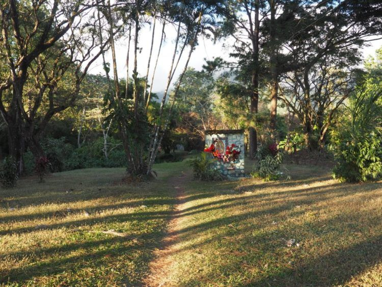 Random pathways through town leading to shrines.