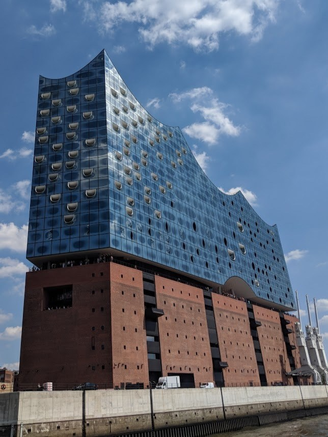 The Elbphilharmonie, as seen from ferry 72