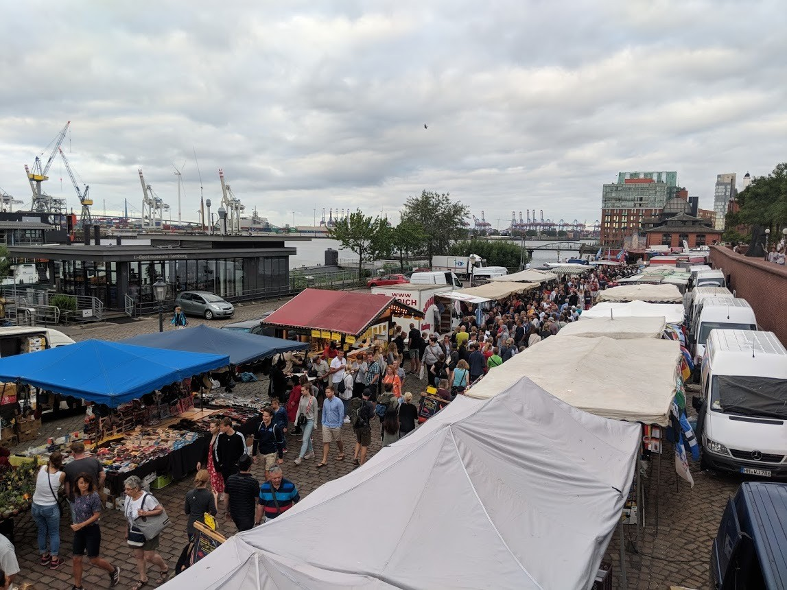 Outside the fish market, at about 6am on a Sunday