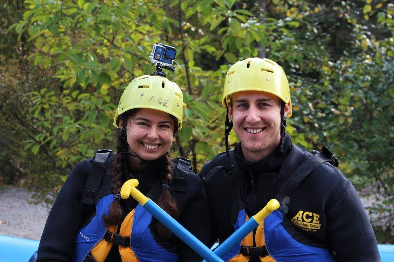 what to wear whitewater rafting lifejacket and helmet