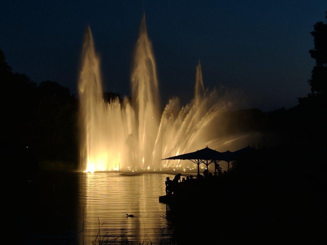 The water show at Planten un Blomen park hamburg germany