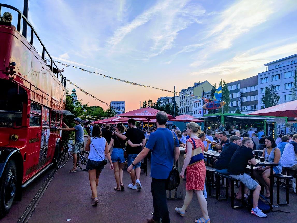reeperbahn food trucks one day in hamburg germany