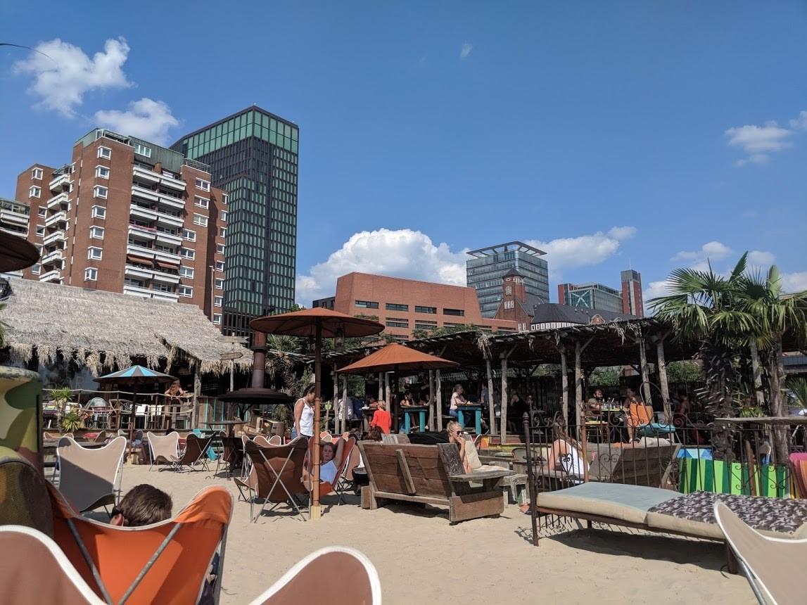 StrandPauli beach club in Hamburg