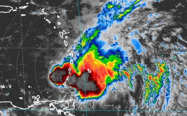 tropical storm kirk radar barbados
