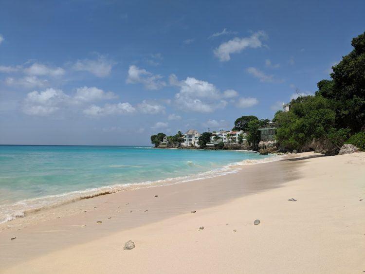 empty barbados beach
