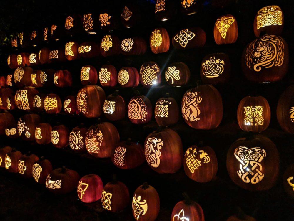 celtic knot jack o lanterns