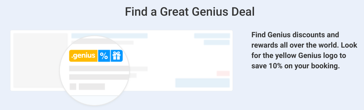 booking.com genius perks