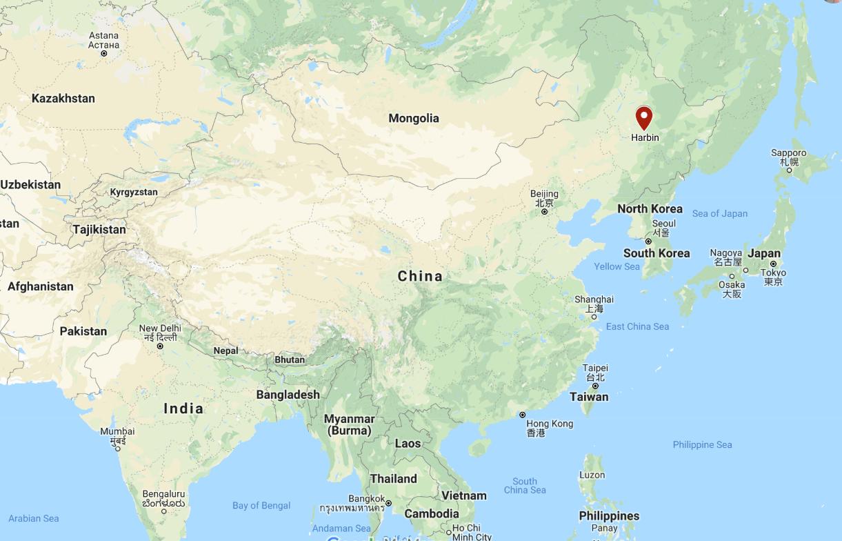 Harbin China Map