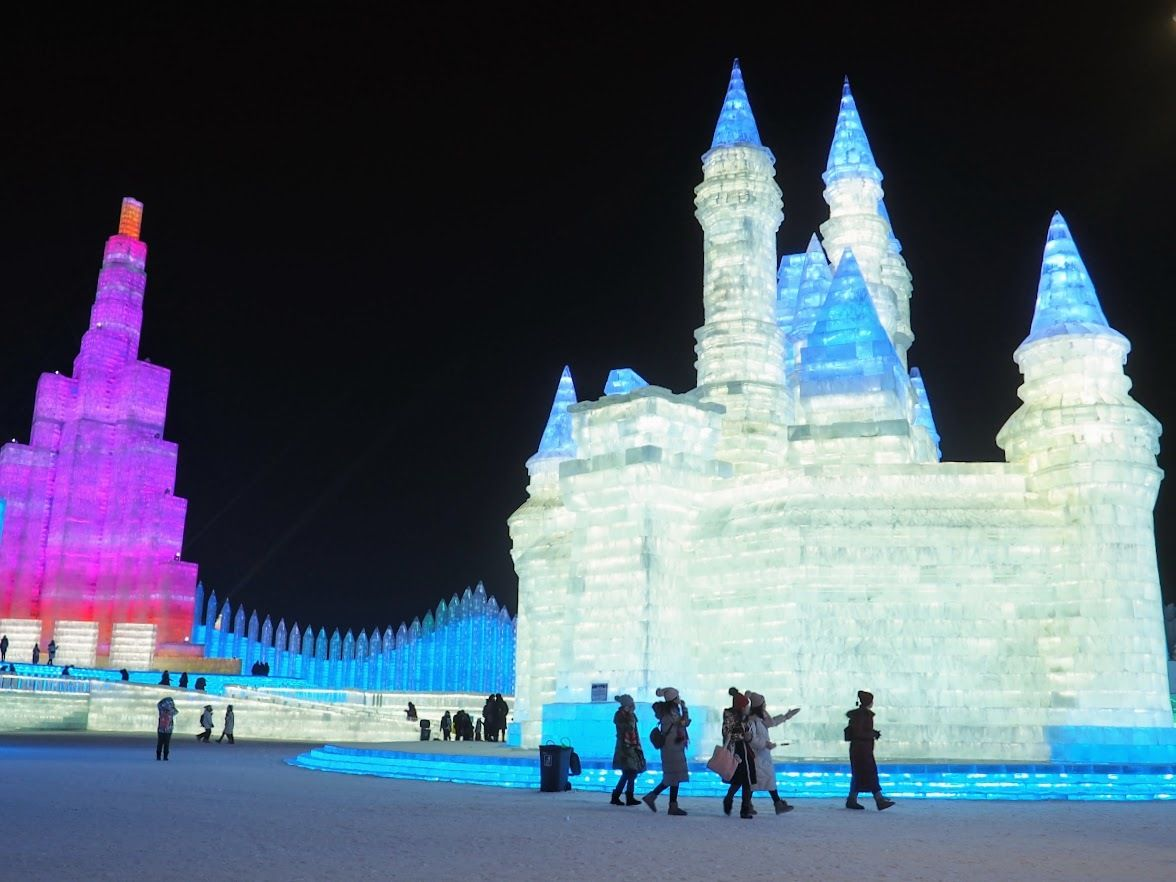 harbin ice festival castle