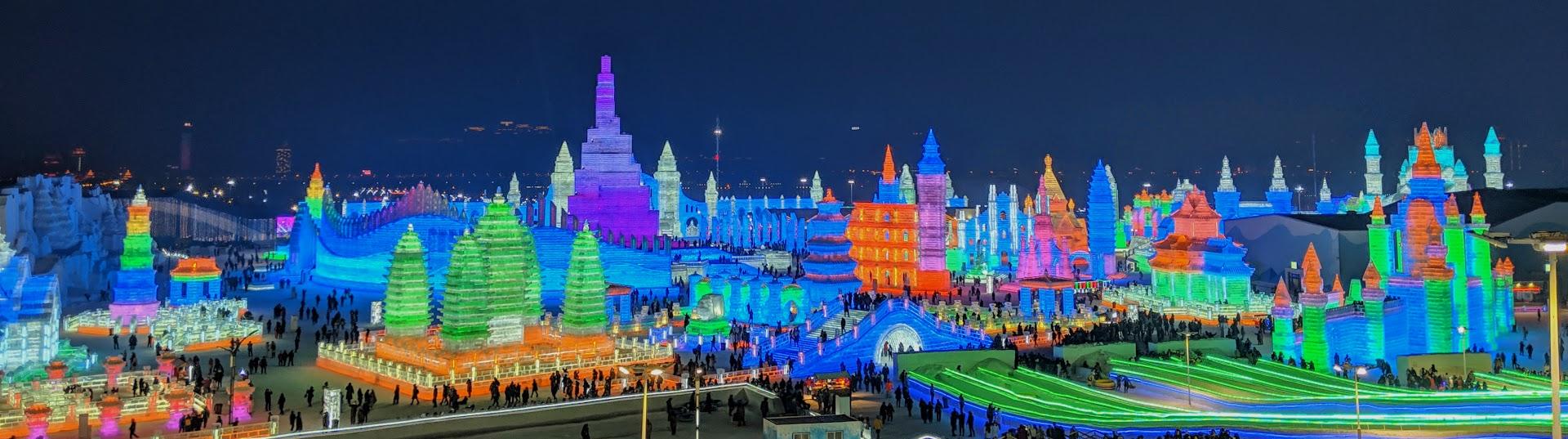 harbin ice festival panorama