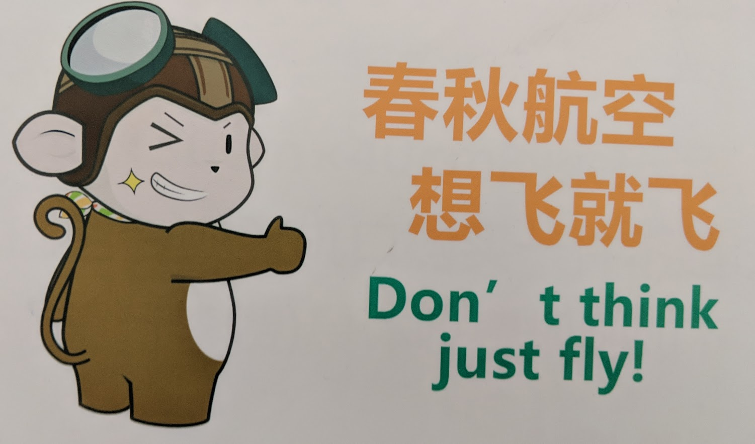 Don't think, just fly.