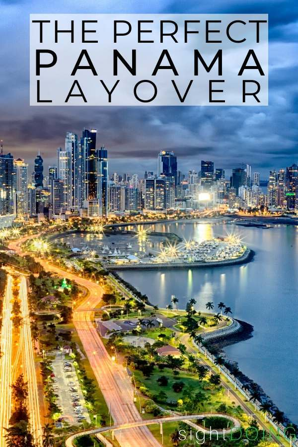 pinterest image for panama layover guide