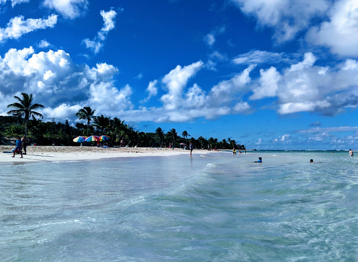 Playa flamenco beach scene