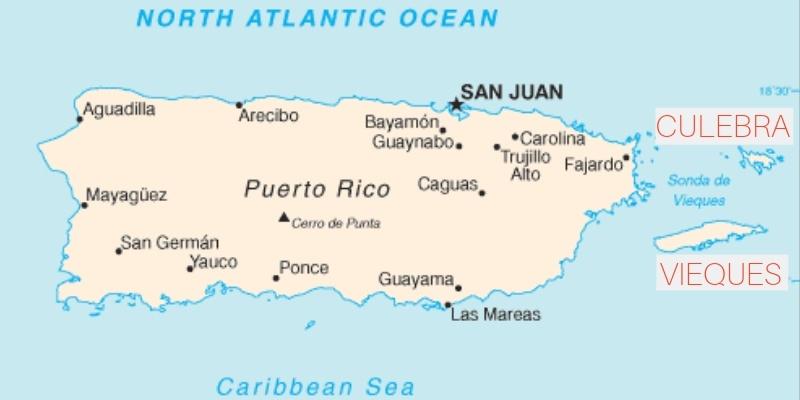 vieques culebra map