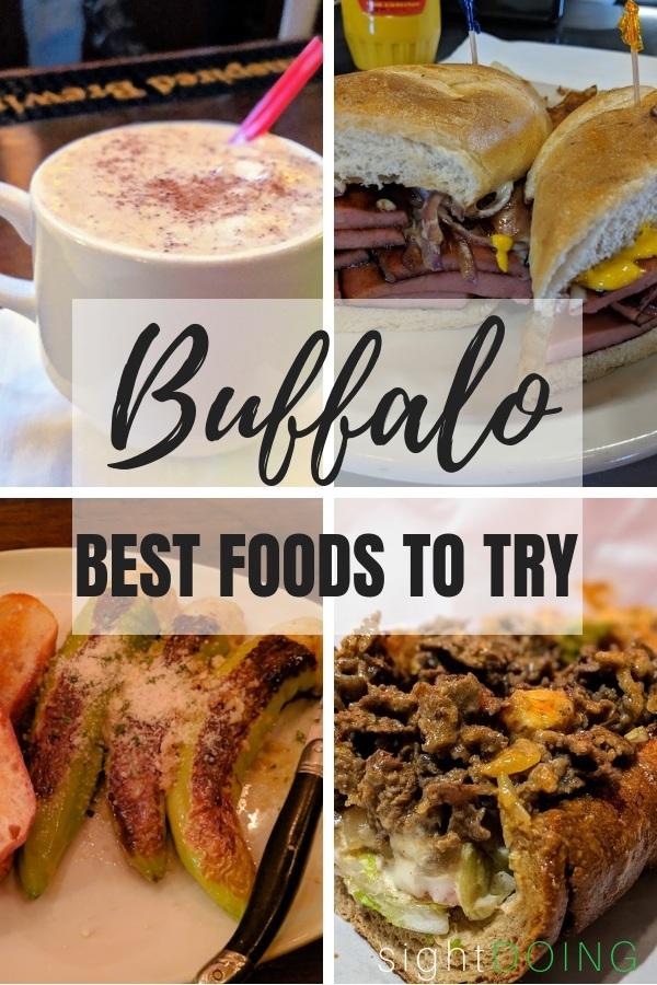 Buffalo foods collage