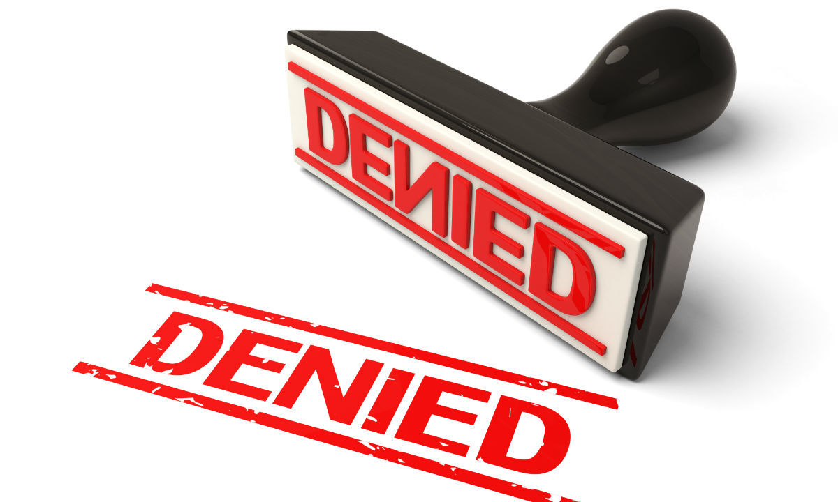 travel insurance denied stamp
