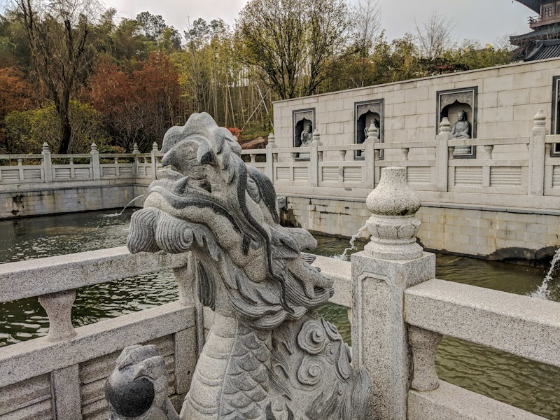 dragon statue niushou shan culture park