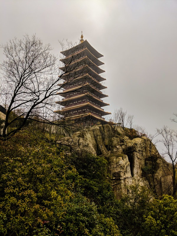 Usnisa Pagoda on a cloudy day
