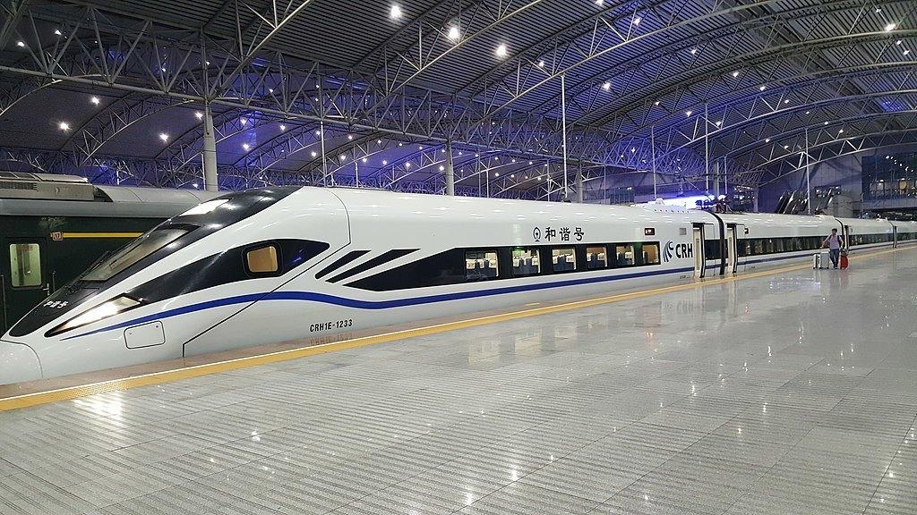 bullet train inside shanghai station