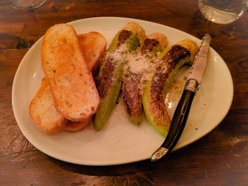 stuffed banana peppers on a plate