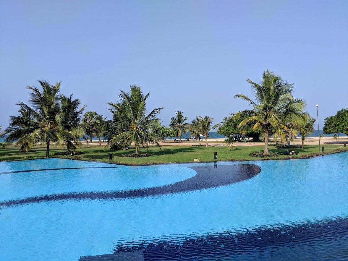 resort pool in passikudah sri lanka