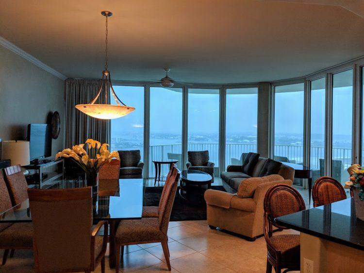 Inside our amazing condo at Caribe Resort, Orange Beach