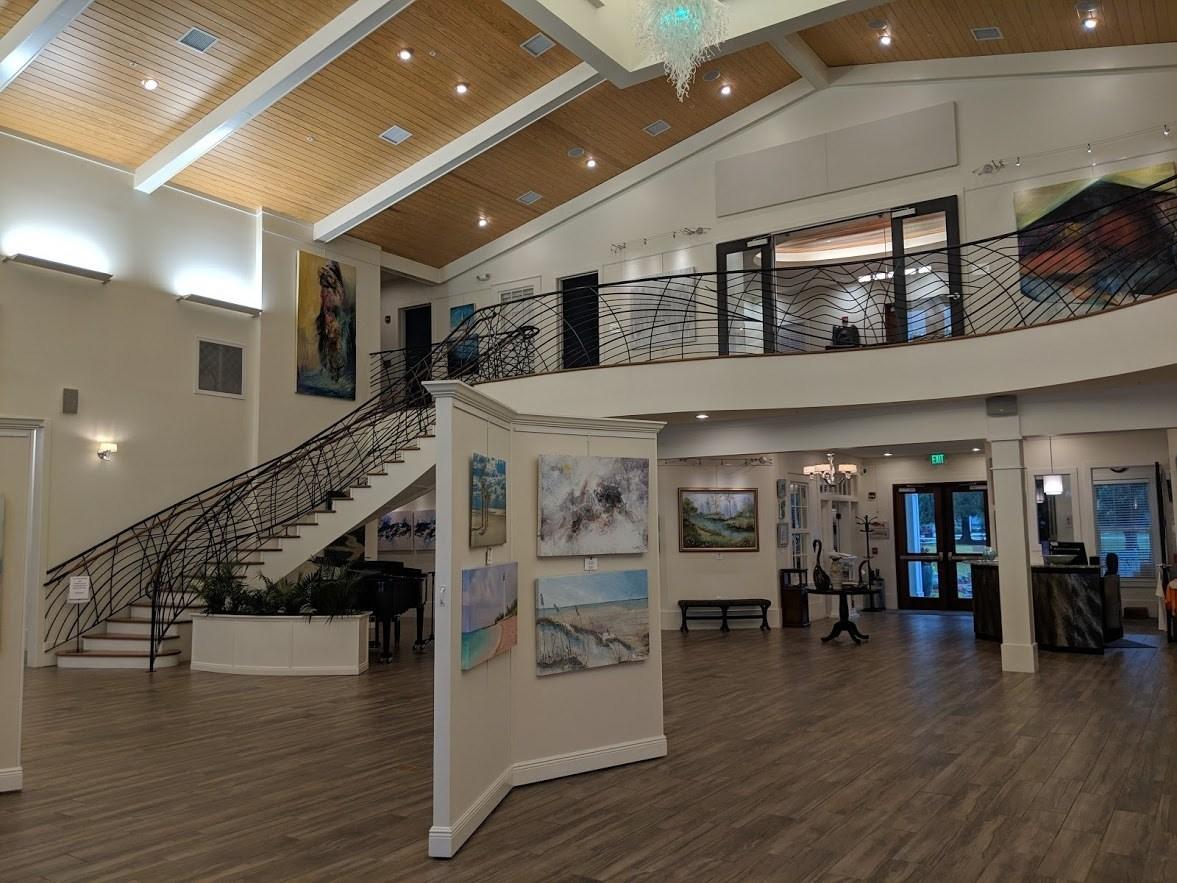 inside the coastal arts center orange beach al