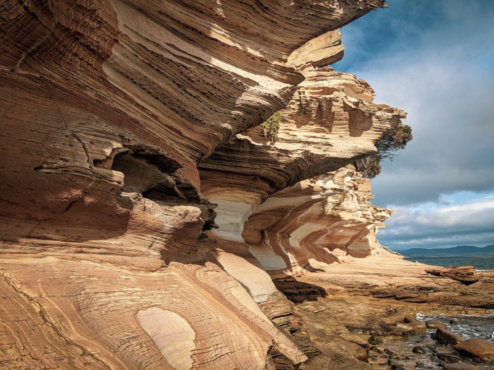 Tasmania Painted Cliffs on Maria Island