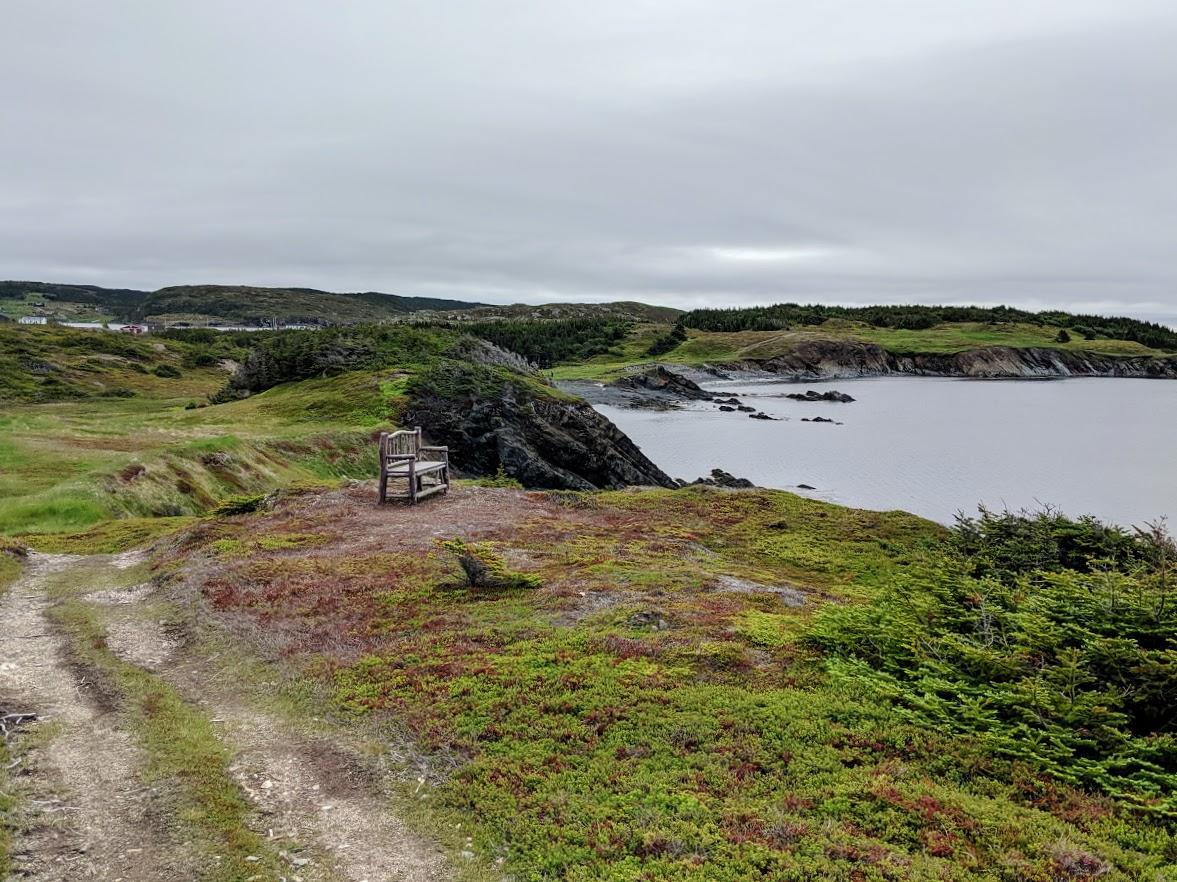 bench on fox island trail