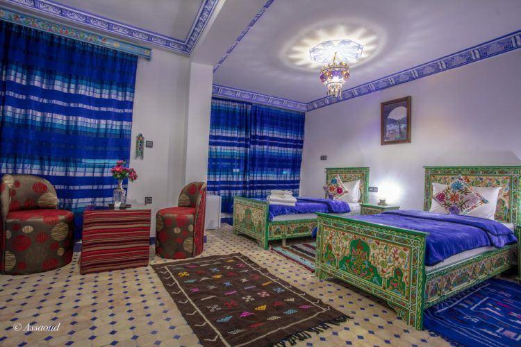 inside puerta azul chefchaouen morocco