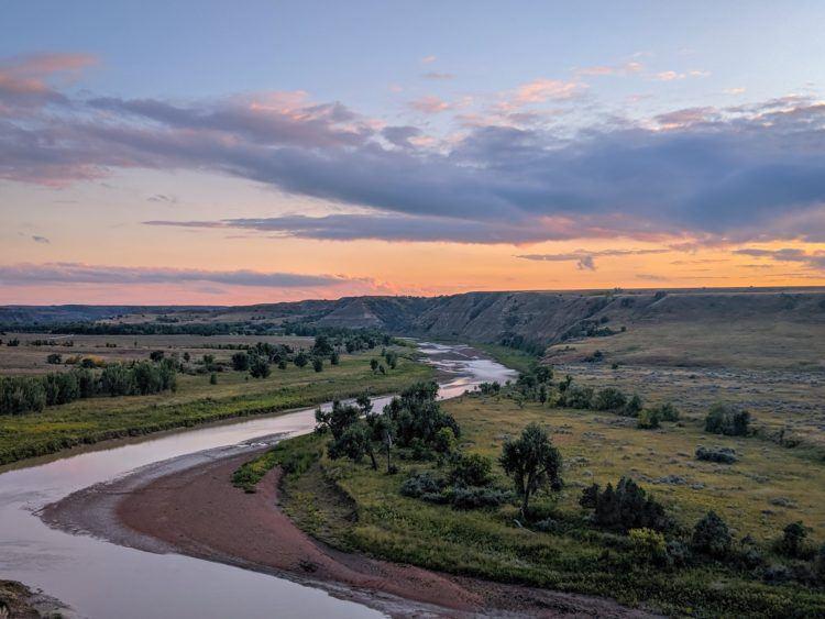 little missouri river in a north dakota national park