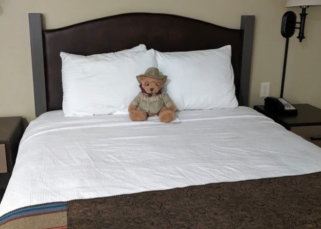 bed in badlands motel medora north dakota