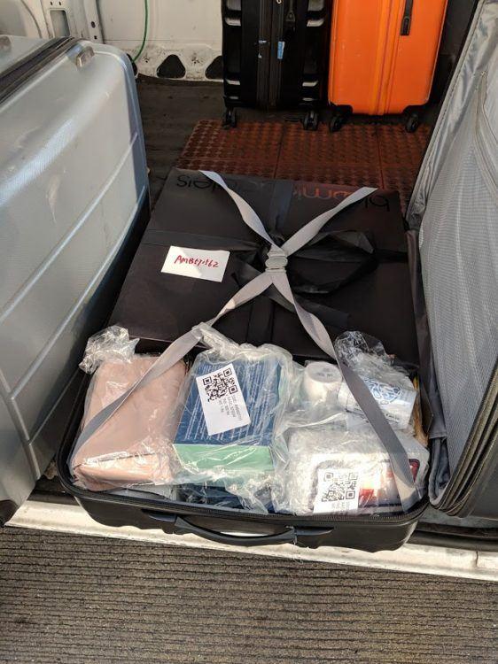 contents inside suitcase