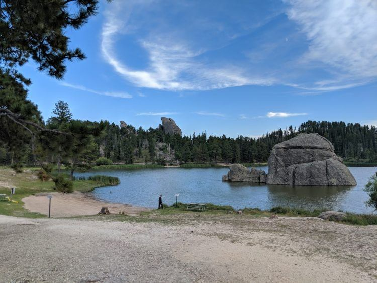 sylvan lake is a perfect stop for one day in custer state park