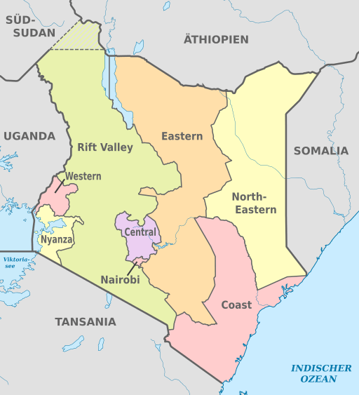 map of kenya regions