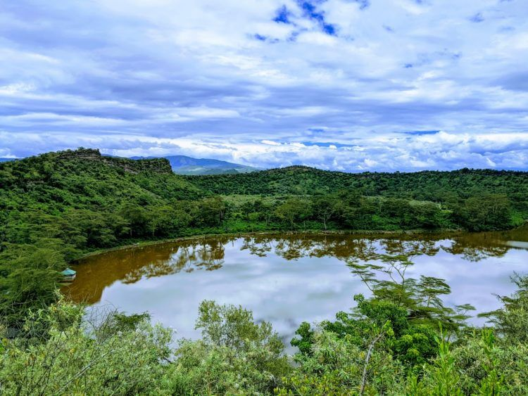 crater lake, one of the places to visit in naivasha