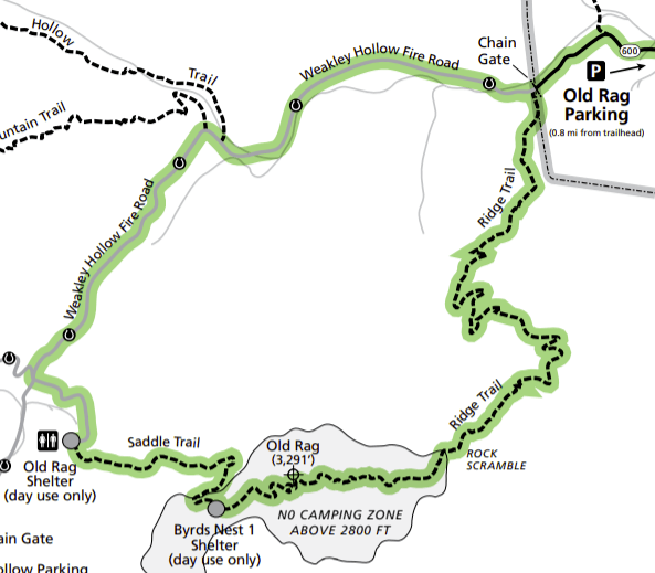 old rag trail map