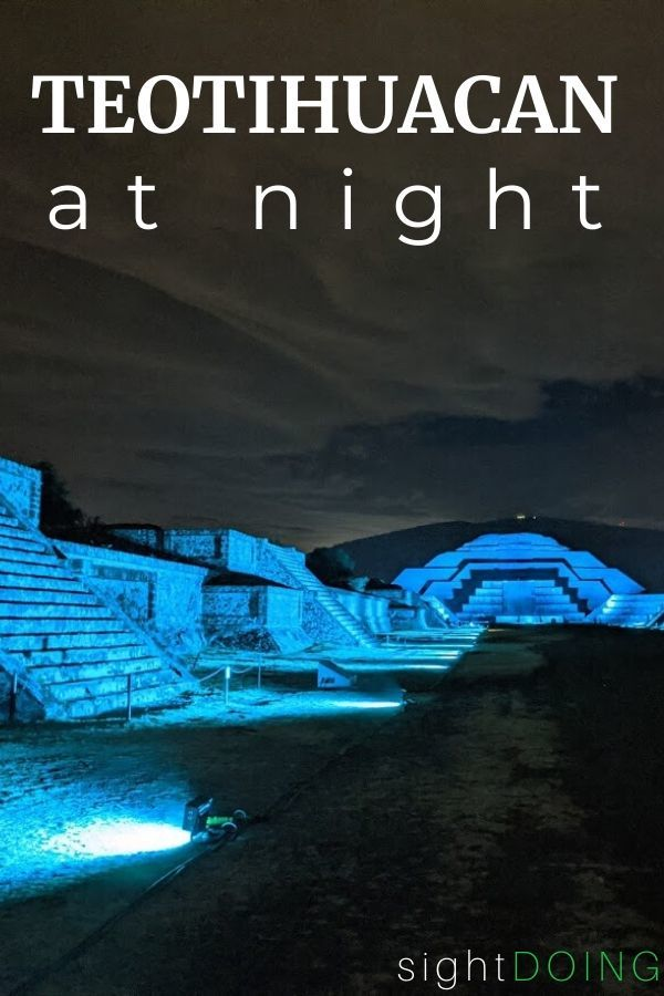 teotihuacan at night pinterest graphic