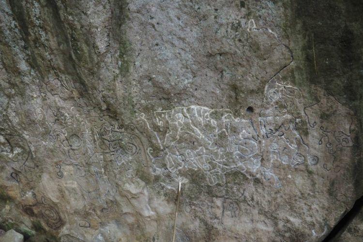 Petroglyphs along the trail
