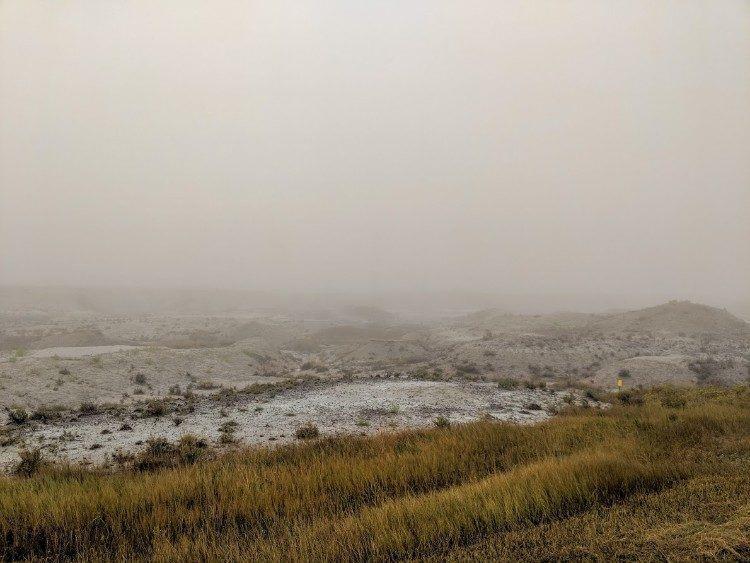 badlands fog