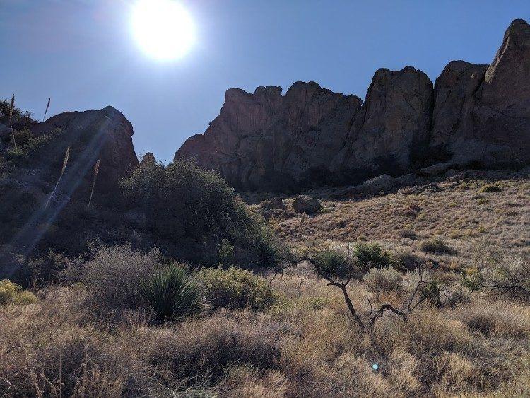 sunbeam over organ mountains
