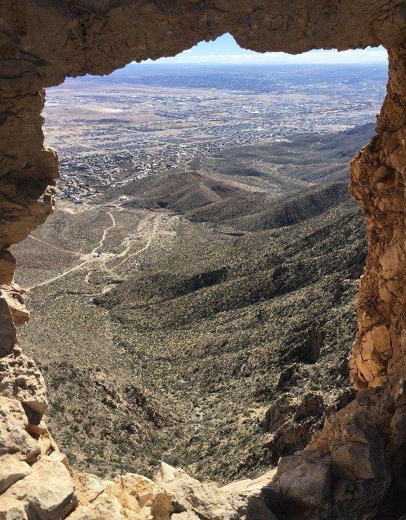 rock window ron coleman trail el paso