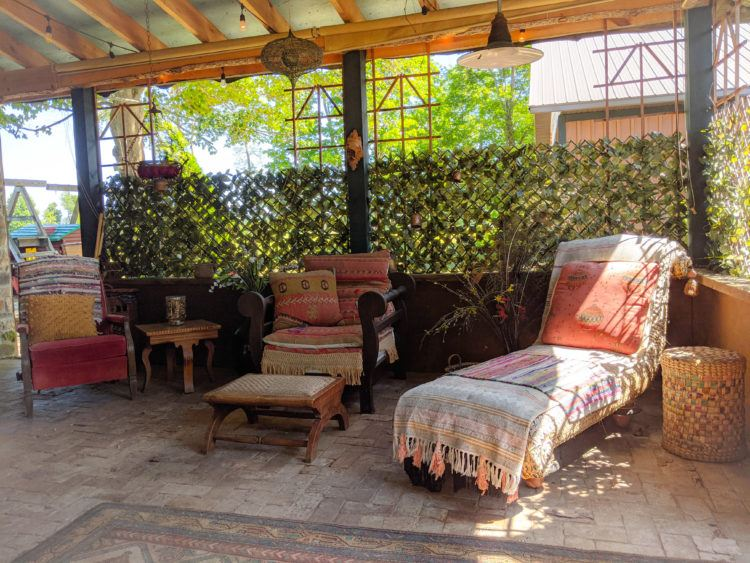 garden lounge glamping in ithaca