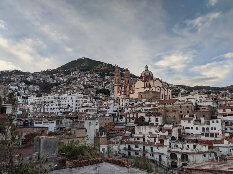 town panorama of taxco, mexico