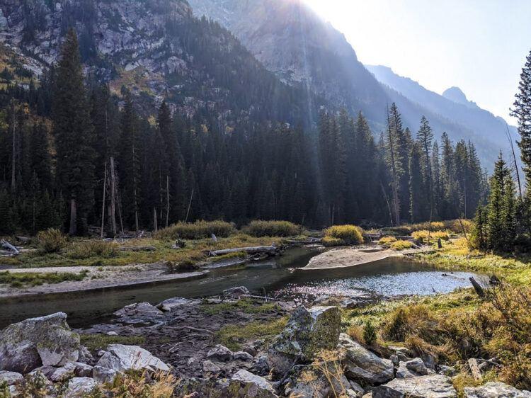 creek running through grand tetons national park