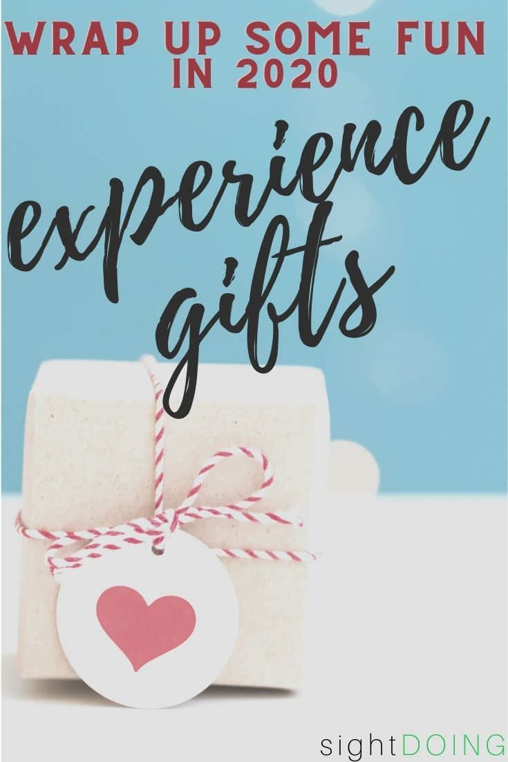 experience gifts pinterest image