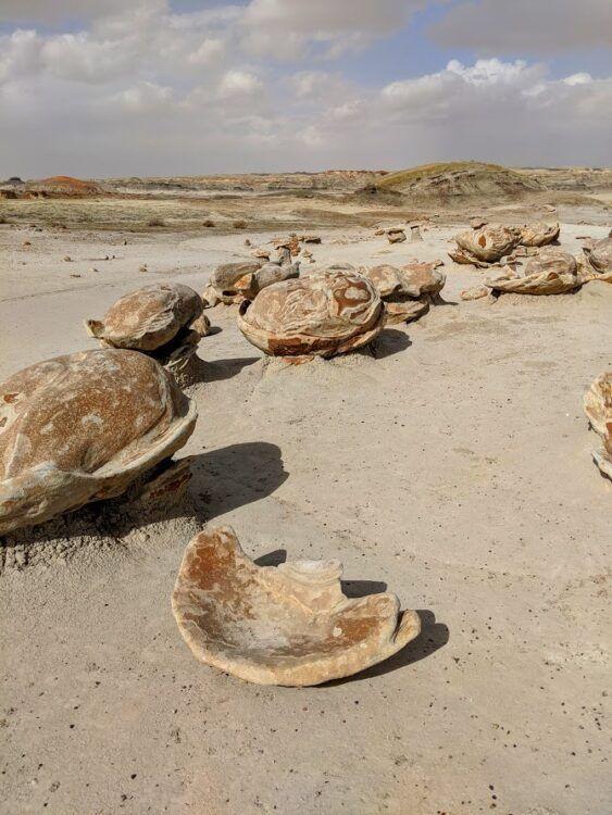 alien eggs in bisti badlands