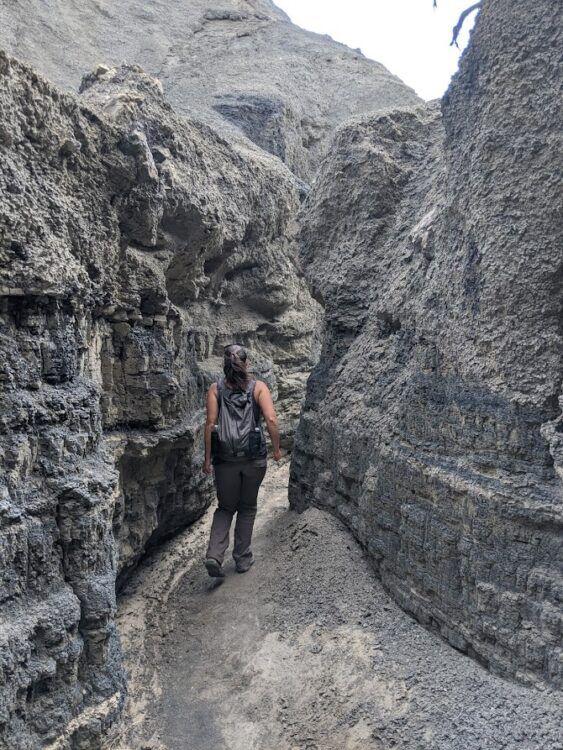 slot canyon in bisti badlands